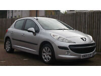 2009- Peugeot 207 1.4 HDI 70 a/c S **DIESEL** 5 door (MOT 08/17) £30 road tax !!