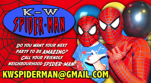 K-W Spider-Man superhero birthday party appearance Cambridge Kitchener Area image 1