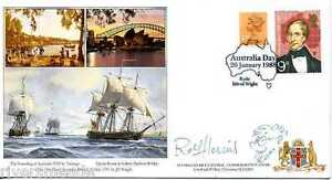 Australian-Bicentenary-Commemorative-Cover-1988-SIGNED-Rolf-Harris-with-Doodle