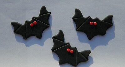 12 edible HALLOWEEN SCARY VAMPIRE BAT cake topper decoration CUPCAKE FRIDAY 13TH
