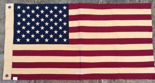 USA United States America Flag SEWN Vintage Style 100cm x 50cm With 2 Eyelets