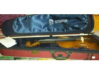 Full size Stentor violin with 4 books