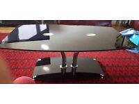 Black Glass coffee table and set of tables only £60