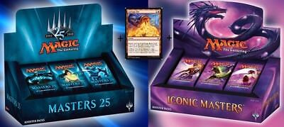 GARBAGE MASTERS BOOSTER BOX BUNDLE ICONIC MASTERS + MASTERS 25 + GARBAGE FIRE