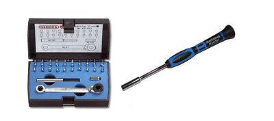 GEDORE Minibit-Set 23-teilig für Modellbauer + 1 Bit-Schraubendreher 4 mm