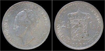 Nederland Wilhelmina I 2 1/2 gulden(rijksdaalder)1937