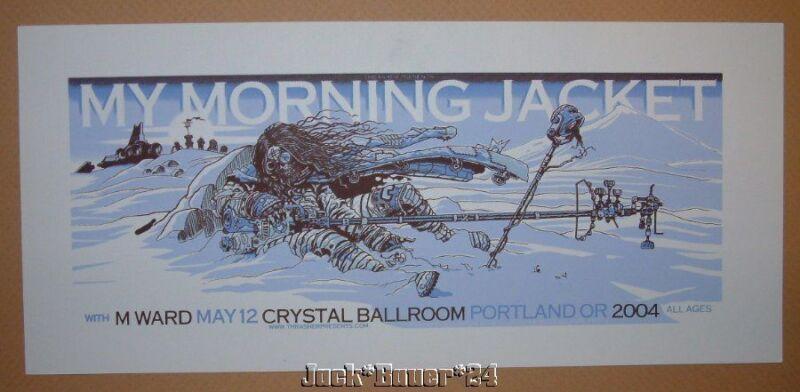 My Morning Jacket Guy Burwell Portland Concert Poster Handbill Print 2004 Art