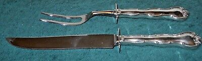 2 Piece Roast Carving Set Sterling Silver .925