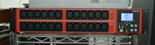 Raritan PDU PX3 Rack Mount 2U 30-Outlets NEMA L6-30P PX3-1833R-K1 Red