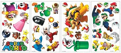 35 New NINTENDO SUPER MARIO WALL STICKERS ...
