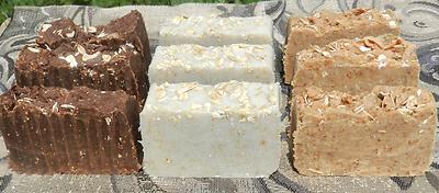milk soap selection 9 bars goats milk coconut almond milk lard and lye tallow