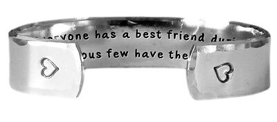 Hand Stamped Bracelet | Everyone has a best friend during each stage of life