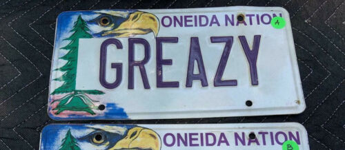 neida Nation Native Indian Tribe License Plate Vanity - GREAZY with Bald Eagle