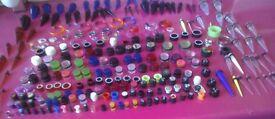 Massive job lot of ear jewellery, plugs tunnels tapers
