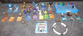 54 Skylanders figures and various traps, levels, items and vehicles for Playstation, Wii or Xbox
