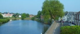 Double rooms in great house beside Exeter Quay and River Exe