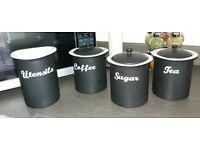 House of Fraser Tea Coffee Sugar Utensil Storage