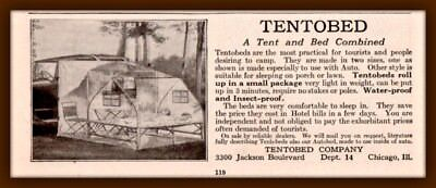 1921 A AD TENTOBED CO INTERIOR SCENE AUTOBED