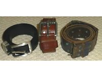 3x mens belts for sale