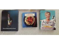 Various Cooking Books, Chinese, Aggie, Heston Blumenthal, all excellent condition