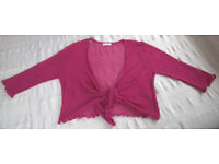 thestockshop size S (10/12) bright pink shrug. Brighten up that little black dress this Christmas!