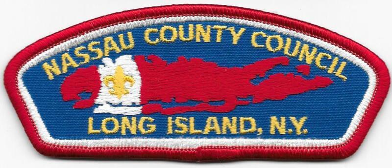 Nassau County Council Strip Plastic Back CSP SAP Boy Scout of America BSA