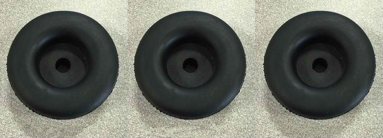 """Round Rubber Trailer Door Bumper - 2-1/2"""" Diameter - 1"""" High - 3 Pack"""
