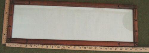 ART DECO CARVED WOOD FRAME 8X25 W/GLASS  D