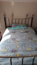 Immaculate metal double bed - Bargain!