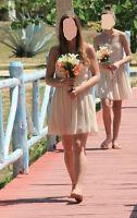 Bridesmaid Dress Tan-Nude-Champagne color