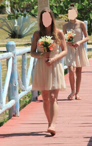 Bridesmaid Dress Tan-Nude-Champagne color