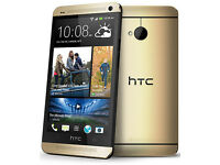HTC ONE M7 GOLD GRADE A+ PERFECT CONDITION ALL NETWORKS 64GB