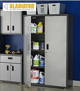NEW GLADIATOR STEEL GARAGE CABINET - 116873190 - FREESTANDING NEW OPEN BOX STORAGE CABINET