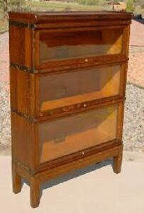 Antique Oak Lawyers Sectional Stacking Bookcase - Cash Paid!