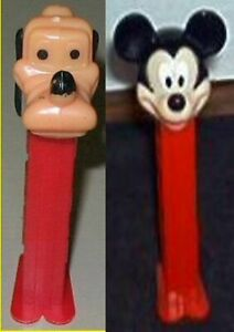 Vintage Pez Pluto and Mickey Mouse