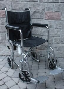 Folding Transport Wheelchair AMG15 inch adults size foldable whe