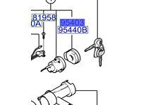 Hyundai Santa Fe Antenna Assy, w/illu 9540326100