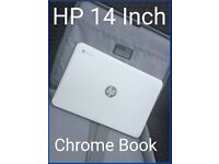HP 14 Inch Chrome Book (Including Original Charger & A Laptop Case)