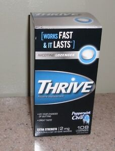 Thrive Lozenges Peppermint Chill 108 2 mg Lozenges. NEW in Box