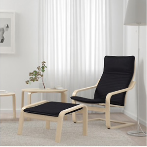 IKEA Poang Armchair + Footstool Set.