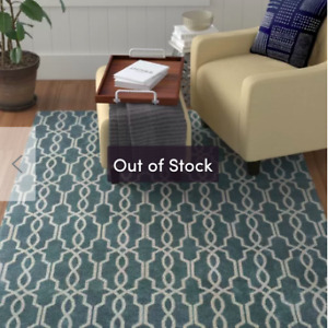Pearle Handwoven Blue Area Rug 5'7' x 7'