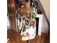 Topshop floral blouse in size 12 - like new