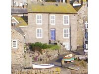 Harbourside house in Mousehole, Cornwall available weeks commencing 13th and 27th August 2016