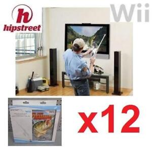 12 NEW WII SEGA BASS FISHING W/ ROD 136578514 NINTENDO WII VIDEO GAME HIP STREET