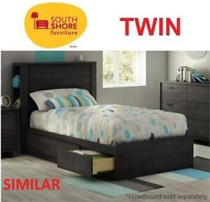 NEW SOUTH SHORE TWIN MATES BED 10825 189180851 GREY