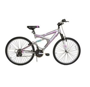 NEW Stored Outside WOMENS BIKE DUAL SUSPENSION 18 Speed