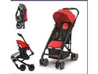 Recaro easylife red stroller pushchair + official rain cover