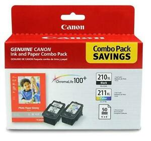 NEW CANON 210  211 INK CARTRIDGES Canon® PG-210XL/CL-211XL Black/Colour Ink Cartridges, High Yield, Value Pack