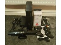 Xbox 360 slim 250gb with 2 pads, kinect, game & accessories