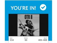 4x Beyonce & Jay Z OTRII Tickets SEATED: Section 234 - Saturday 16th June 2018 @ London Stadium